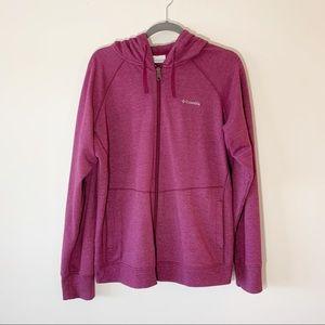 Columbia Soft Purple Zip Front Hoodie Jacket XL